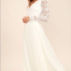 Lulu's Dresses - Lulu's bridal white dress Size M